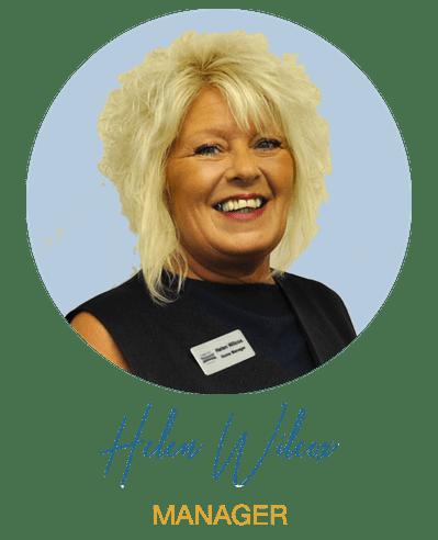 Manager Helen Wilcox